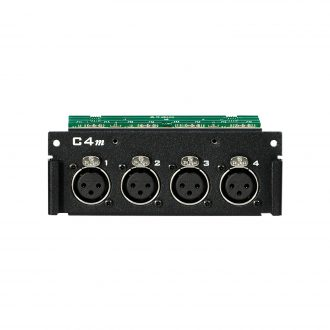 Aviom C4m 4-Channel Mic/Line Input Card