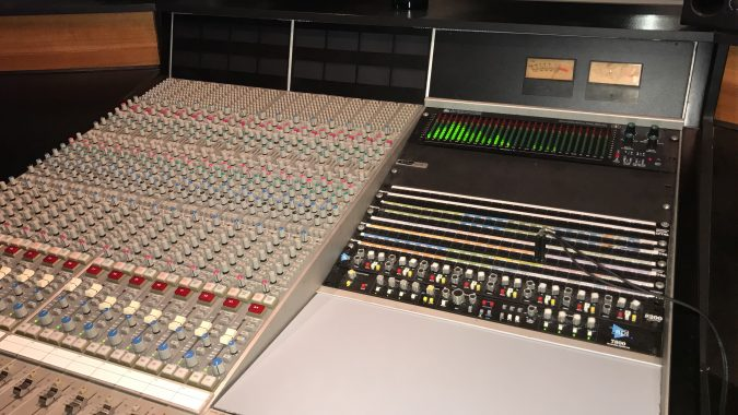 SSL 4016 custom console with API master section