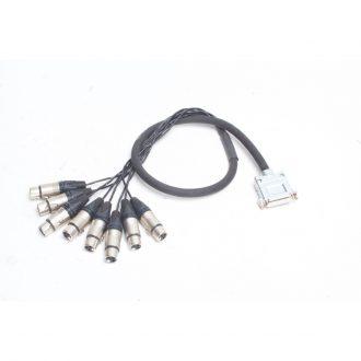Redco DB25-XLRF-3′-TGS 8 Channel Snake