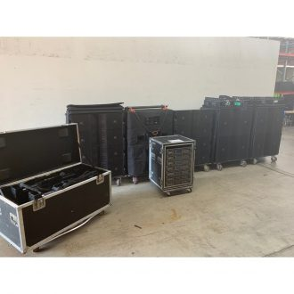 JBL VTX V20/S25 System with Wedges and Crown iTech Amps, Rigging