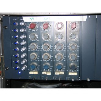 Neve 1073 Vintage set of 4 in 8 space rack. Early 1970's Dark Blue!