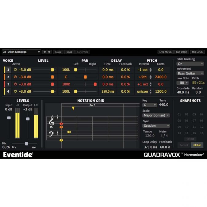Eventide Quadravox Pitch-Shifting Harmonizer Plugin