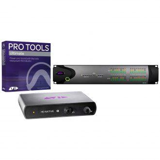 Avid HD Native Thunderbolt + HD I/O 16×16 Digital with Ultimate Software
