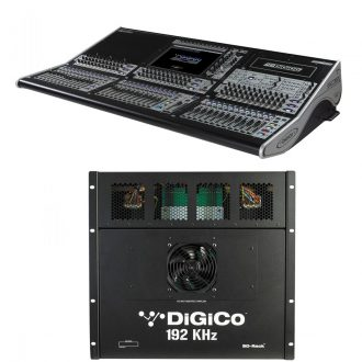 Digico SD8 Console – Live SD Rack Optic Package