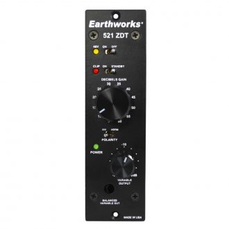 Earthworks 521 – 500 Series Zero Distortion Technology Preamp