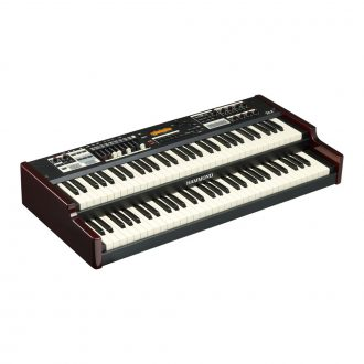 Hammond SK2 Instrument Keyboard Burgundy & Black (Dual Man 61 Note)