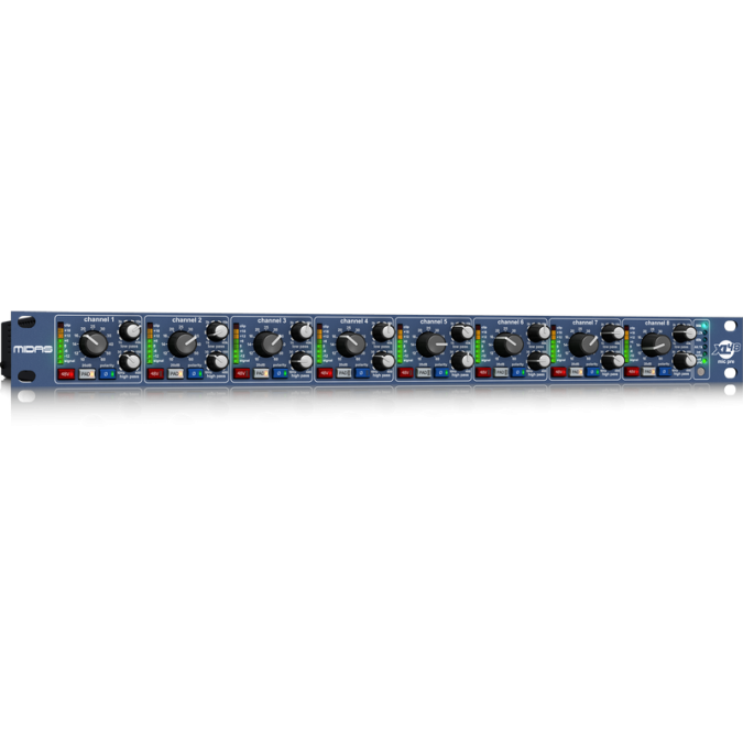 Midas XL48 8-Channel Microphone Preamp Adat Outputs