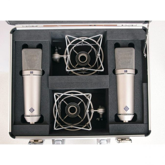 Neumann U 87 Ai Set Z Stereo Pair NI Nickel Finish