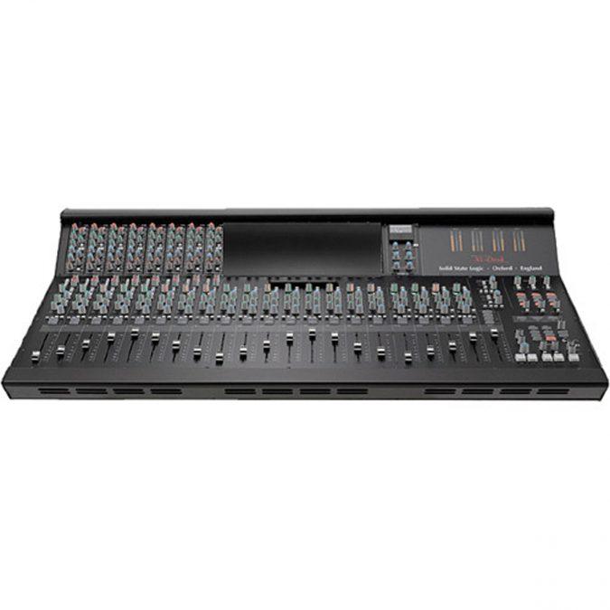 SSL XL-Desk Mixing Console with 8 E Series EQ Modules