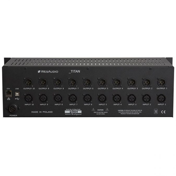 Wes Audio TITAN 10-Slot 500 Series Recall Chassis